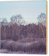 Frosty Purple Morning In Russia Wood Print