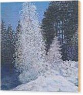 Frosty Trees Wood Print