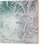 Frosty Windowpane Wood Print