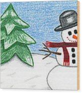 Frostyland Wood Print by Lisa Ullrich