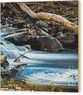 Frothy Swirls Wood Print
