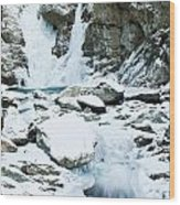 Frozen Bash Bish Falls Wood Print