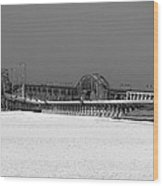 Frozen Bay Bridge Wood Print