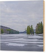 Frozen Bear Creek Lake Wood Print
