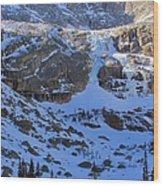 Frozen Black Lake Wood Print