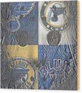 Frozen Blues Wood Print