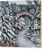 Frozen Brook - Winter - Bridge Wood Print