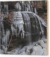 Frozen Buttermilk Falls Wood Print