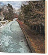 Frozen Canal Wood Print