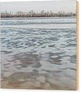 Frozen Dnieper River Wood Print