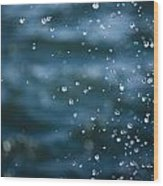 Frozen Droplets Wood Print