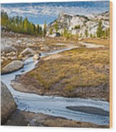 Frozen Enchantments Creek Wood Print