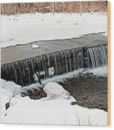 Frozen Falls At Pine Creek Wood Print