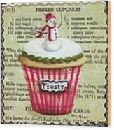 Frozen Frosty Cupcake Wood Print