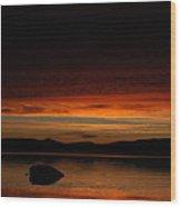 Lake Umbagog Marbled Moment Wood Print