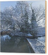Frozen Iseland Wood Print
