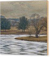 Frozen Lake Wood Print by Kathy Jennings