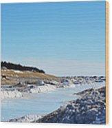 Frozen Lake Michigan Wood Print