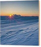 Frozen Lake Minnewaska Wood Print