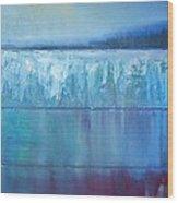 Frozen Lake Wood Print