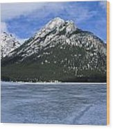 Frozen Minnewanka Wood Print