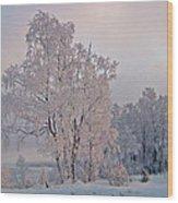 Frozen Moment Wood Print