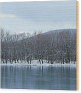 Frozen Mountain Lake Wood Print