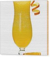 Frozen Orange Drink Wood Print