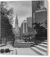 Frozen Philadelphia Wood Print