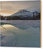 Frozen Rainier Vision Wood Print