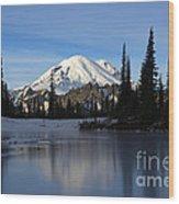 Frozen Reflection Wood Print