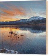 Frozen Reflections Wood Print