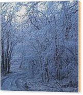 Frozen Road Wood Print