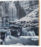 Frozen Scaleber Force Falls Wood Print