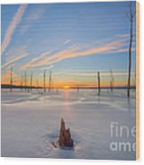 Frozen Sunrise V2 Wood Print