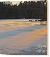 Frozen Sunset Wood Print