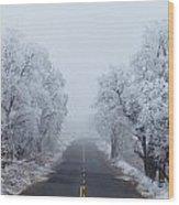 Frozen Trees Wood Print