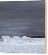 Frozen Wave On Lake Michigan Wood Print