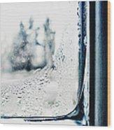 Frozen Windowpane Wood Print