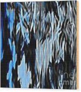 Frozen Zebra Wood Print