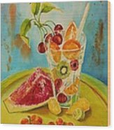 Fruit Coctail Wood Print