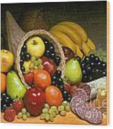 Fruit Cornucopia  Wood Print