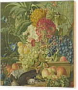 Fruit Flowers And Dead Birds Wood Print