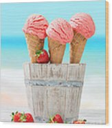 Fruit Ice Cream Wood Print