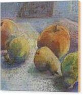 Fruit In Moonlight Wood Print