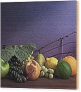 Fruit In Still Life Wood Print by Tom Mc Nemar