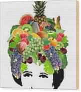 Fruit Lady Wood Print