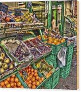 Fruit Market Wood Print