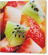 Fruit Salad Macro Wood Print