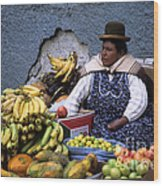 Fruit Seller Wood Print by James Brunker